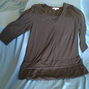 Two by Vince Camuto Black Size XL Shirt